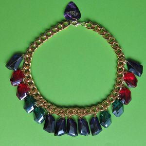 Image of Opulent Rainbow Crystal Chunky Necklace