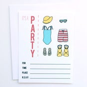 Image of Swim Party Invitations