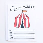 Image of Circus Party Invitations