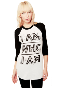 Image of I AM WHO I AM Baseball Tee