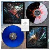 "Image of DK020: The Mire/Chronos - 10"" Split LP - Half and Half w/ Splatter/105, Blue/195"