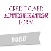 Image of Credit Card Authorization Form