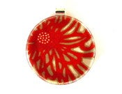 Image of Chrysanthemum - Large Round Glass Pendant