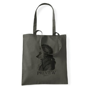 Image of Preview Wolf Gang Tote Bag, Olive