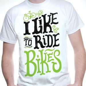 Image of I Like to Ride Bikes shirt