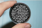 Image of Black & White Floral Print Plugs