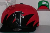 Image of Atlanta Falcons Shark Tooth Black/Red Snapback Hat Cap
