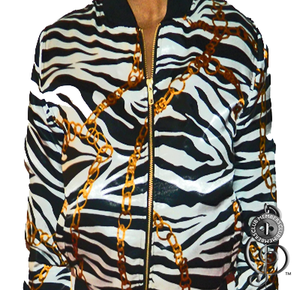 Image of Queen Zebra Silk Cropped  Jacket
