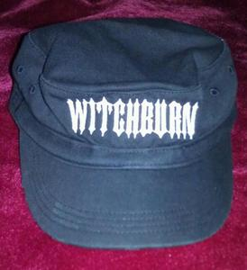 Image of Witchburn Distressed Military Hat (Black)