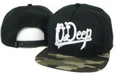 Image of NEW! 10 Deep Script Camo Snapback Hat Collection