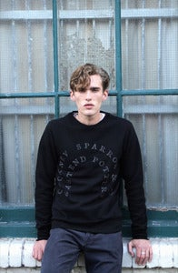 Image of COCKNEY SPARROW black puff sweatshirt
