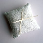 Image of SOLD OUT- Exquisite Vintage Handmade Lace Ring Pillow