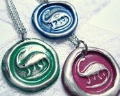 Image of Dinosaur necklace, your choice of color by Ritzy Misfit
