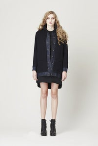Image of DENIM CASHMERE JACKET