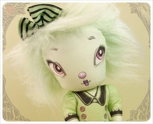 Image of Pistachio Imaginary Friend - NiNN - Fairy Tale Cloth Doll handmade by the Filigree