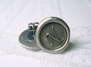 Image of NEW monogram Wax Seal Stamp Earrings by Ritzy Misfit