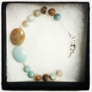 Image of Amazonite & Silver Bracelet
