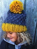 Image of Kit tricot bonnet &quot;Happy funny&quot;.