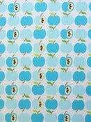 Image of Turquoise Apples organic interlock (by the half metre)