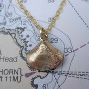 Image of Golden Clam Necklace