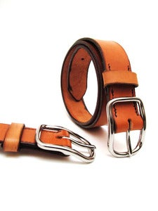 Image of Tan Leather Belt Handmade in USA