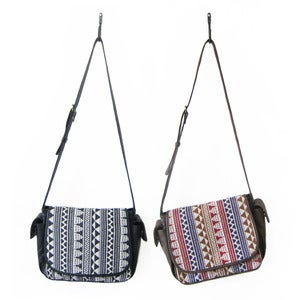 Image of ESTA Satchel in Jacquard/Leather