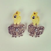 Image of *SALE* FAWN AND BOW EARRINGS