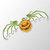 "Image of Age of the Zombie Pumpkins! 8"" Vinyl Sticker"