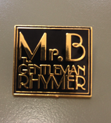 Image of Mr.B The Gentleman Rhymer Square Logo Badge