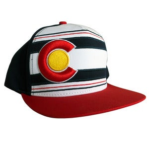 Image of Coloradical Colorado Flag Flat Bill Snapback Hat