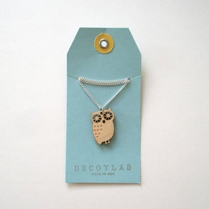 Image of Wood Owl Pendant