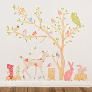 Image of Wonderfully Whimsical Fabric Stickers (Pink)