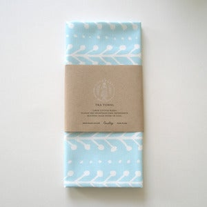 Image of Berry Tea Towel - Blue