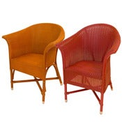 Image of Lloyd Loom Arm Chairs