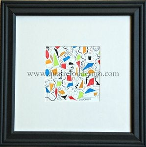 Image of Original art - abstract watercolor and pencil II