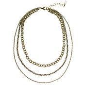 Image of osprey chain necklace: antique brass