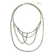 Image of fox web necklace: antique silver