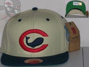 Image of Chicago Whales Two Tone Khaki/Blue Negro League Snapback Hat