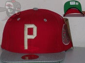 Image of Phila Stars Two Tone Red/Gray Negro League Snapback Hat