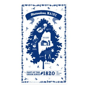 Image of Maine State Towel