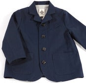 Image of clerks coat-indigo