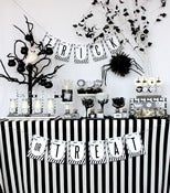 Image of Black and White Sophisticated printable Halloween Collection