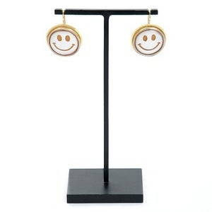 Image of Smiley Face Cameo Earrings