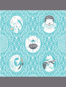 Image of Woodland Friends Print by Jolby 