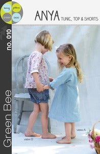 Image of Anya Tunic, top and shorts Sewing Pattern