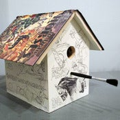Image of How to Draw Horses Birdhouse by Wild Wings Literary Lodgings