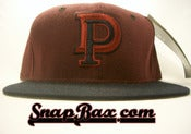 Image of Vintage Deadstock Detroit Pistons Burgundy Navy New Era Tones Snapback Hat Cap