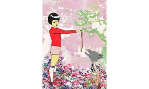 Image of Little Red and the Wolf-Greeting Card