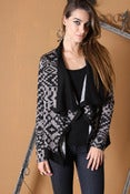 Image of Printed Drape Jacket/Cardi