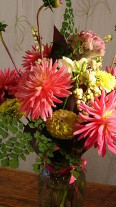 Image of FANCY MASON ARRANGEMENT: PINKS